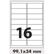 Oritec A4 4139 16 Etiquetas Por Hoja Laser O Inkjet X100