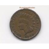 Moneda Un Centavo 1890 Indean Head Cabeza De Indio Penny Usa