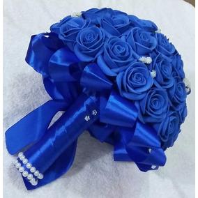 3 Buques Eva Azul, Noiva, Noivinha E Porta Alianças
