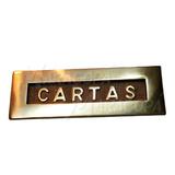 Placa De Cartero Bronce Cartas Buzon 250mm