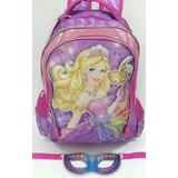 Mochila Costa Barbie Disney Original Chenson Infantil