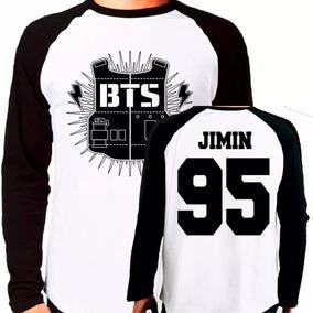 Camiseta Blusa Kpop Bangtan Boys Bts Jimin Raglan Longa