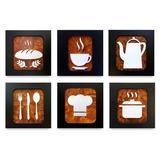 Quadros Decorativos Cozinha Restaurante Bar 20x20 Unidade