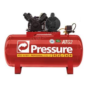 Compressor De Ar 10 Pés 100 Litros Atg2 C/ Motor Monofásico