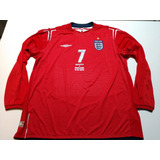 Camisa Seleção Inglaterra Euro 2004 Away Xxl Mangas Longas 847c08c10e814