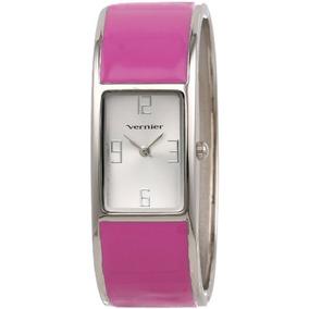 Vernier Womens Vnr11134pch Color-block Bangle Watch