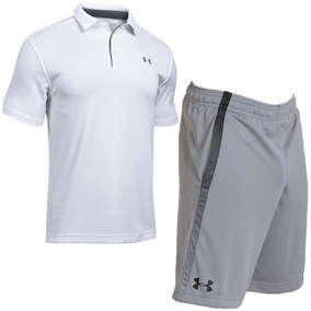 0d9b2abec7f Oferta Masculino Under Armour Short Tech Mesh + Camisa Polo!