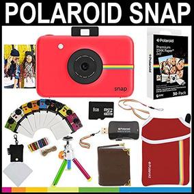 Polaroid Snap Cámara Instantánea (rojo) 2x3 Zink Paper (paq