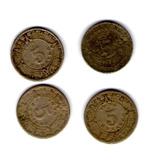 Monedas De 5 Centavos 1906, 1936, 1937 De México