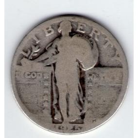 Estados Unidos 1/4 Dolar De Plata 1925 Fliying Eagle