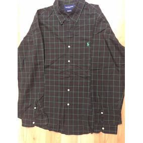 Camisa Ralph Lauren Golf Negra C/cuadros Talla Xl Custom Fit