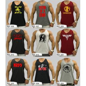 Regata Masculina Academia Treinar Musculação Cavada Original