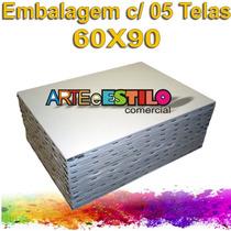 Emb. 05 Telas Para Pintura 60x90 P/ Tinta A Óleo Ou Acrilica