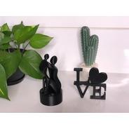 Kit Presente Dia Das Mães Estátua Mãe E Filho +palavra Love