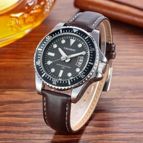Relógio Soki Social Masculino Pulseira De Couro Cagarny