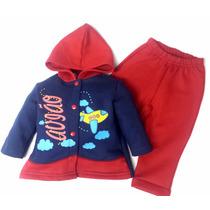 Agasalho Conjunto Infantil Calça E Blusa Moleton Menino