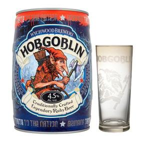 Barril Cerveza Hobgoblin Wychwood 5 Lt Inglaterra + Copa