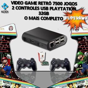 Raspberry Pi3 Game Retrô 7500 Jogos + 2 Controles + 32gb