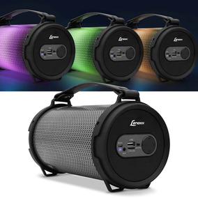 Caixa De Som Portátil Lenoxx Leds Bt 550 Bluetooth Usb Fm