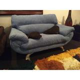 Mini Sofa 2 Puestos Con Cojines Para Niños