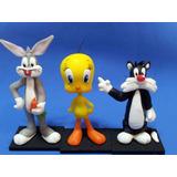 Centro De Torta Looney Tunes Porcelana Fría