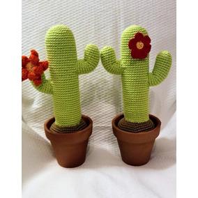 Cactus Cardon Tejidos A Crochet Maceta De Barro Amigurumis