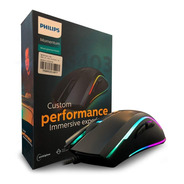 Mouse Gamer Philips Professional Rgb Led 4000dpi 7 Spk9403b