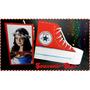 Souvenir 15 Años, 10 Portalapices Zapatillas Con Foto
