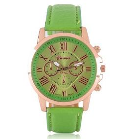 a2014cd5644 Relogio Como Ponteiros Verde Feminino - Relógios De Pulso no Mercado ...