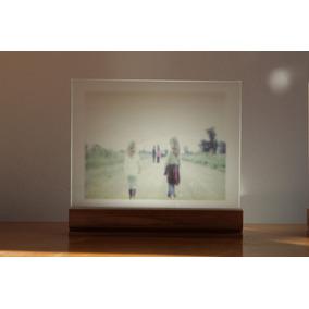 Arte Foto Impresa Sobre Vidrio 10x13cm Con Soporte De Madera