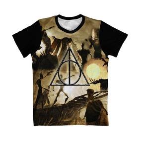Camiseta Harry Potter , Camisa Reliquias Da Morte