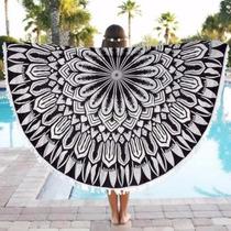 Mandala Manta Tapiz Playa Con Flecos