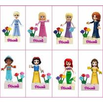 Lego 8 X Princesas Disney Frozen Branca De Neve Ariel Elsa