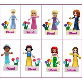 Kit Lego C/ 8 Minifiguras Disney Frozen Princesas Elsa Anna