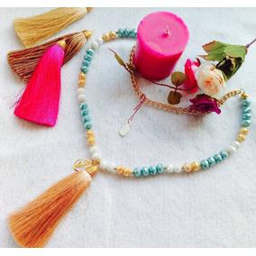 Collar Bisuteria Cristal Swarovski Chapa Oro Envío Gratis