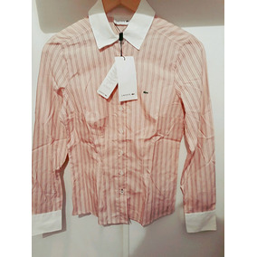Camisa Rosa T 34/xs Mujer Marca Lacoste Original Y Nueva