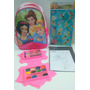 Mochila Disney Princess + Set Pinturas + 8 Láminas + Imanes