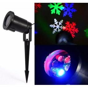 Proyector Luces Led De Navidad Con Copos De Navidad, Remate