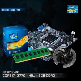 Kit Processador I7 3770 3.9 Ghz + Placa Mãe H61 + 8gb