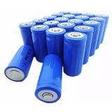 Bateria Recarregável Li-ion 16340 3.7v 1600mah P/ Lanterna