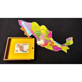 Rompecabezas De Madera Republica Mexicana