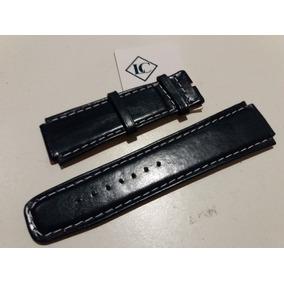 Pulseira Couro P/ Relógios De Luxo - 20mm - Azul Escuro