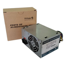 Fonte Atx Wisecase Ws-500-p4 220w Real 24 Pinos Cooler 80mm