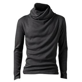 Camiseta De Los Hombres De La Moda De Sólidos Slim Fit Cool