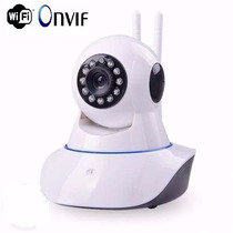 Camera Ip Wireless Sem Fio Wifi Hd 2 Antenas Sensor Noturna