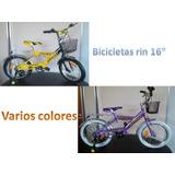 Bicicleta Rin 16 Niñas Y Niños Varios Colores