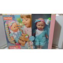 Little Mommy Muñeca Fisher Price Con Silla De Auto