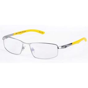93a3e3119a1e2 Armação Oculos Grau Mormaii 152943155 Titanio Prata Amarelo