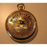 Rms Titanic 1912 Brass Pocket Compass! Modelo De Trabajo Her