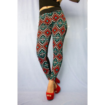 Legging Provoque Estampado Unicolor Pantalon Stretch Moda